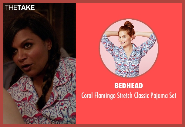 Bedhead red set from The Mindy Project seen with Mindy Lahiri (Mindy Kaling)