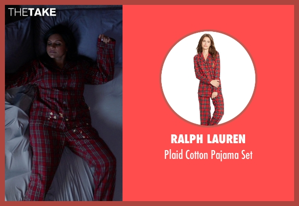 Ralph Lauren red set from The Mindy Project seen with Mindy Lahiri (Mindy Kaling)