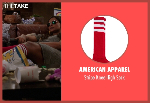 American Apparel red sock from The Mindy Project seen with Mindy Lahiri (Mindy Kaling)