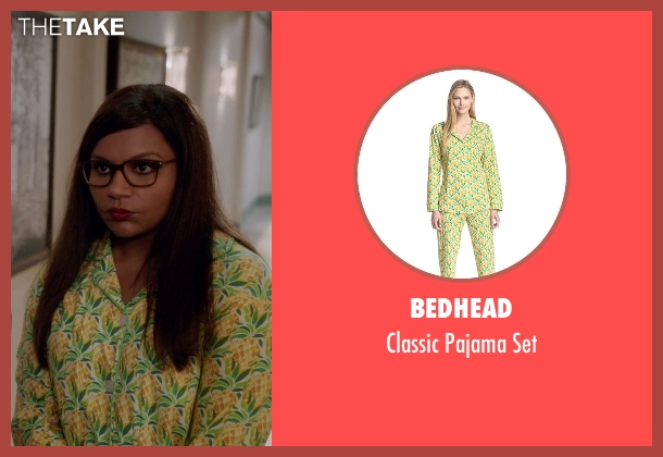 Bedhead set from The Mindy Project seen with Mindy Lahiri (Mindy Kaling)