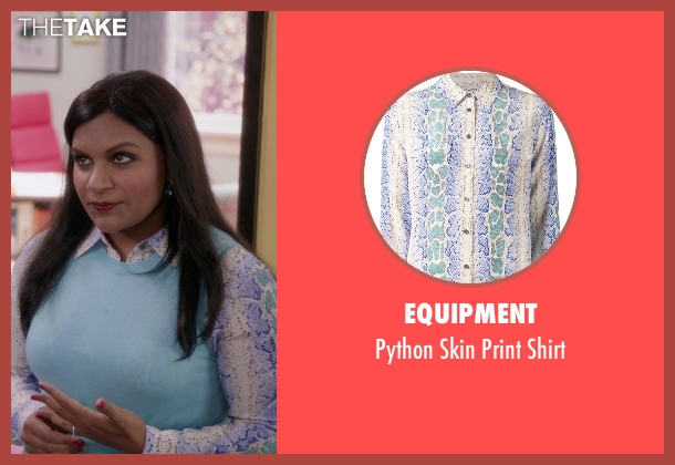 Equipment shirt from The Mindy Project seen with Mindy Lahiri (Mindy Kaling)