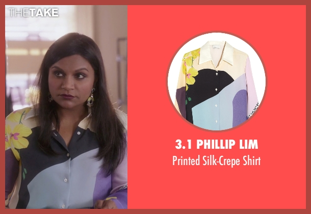 3.1 Phillip Lim shirt from The Mindy Project seen with Mindy Lahiri (Mindy Kaling)