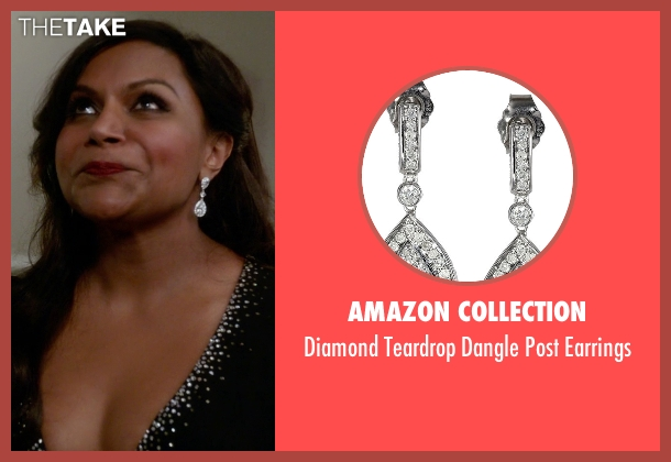 Amazon Collection silver earrings from The Mindy Project seen with Mindy Lahiri (Mindy Kaling)