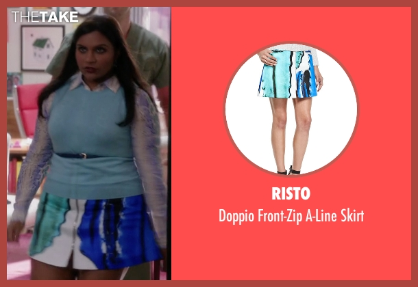 Risto skirt from The Mindy Project seen with Mindy Lahiri (Mindy Kaling)