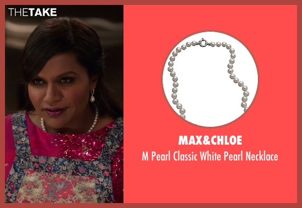 Max&Chloe white necklace from The Mindy Project seen with Mindy Lahiri (Mindy Kaling)