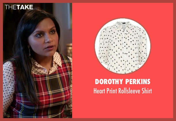 Dorothy Perkins white shirt from The Mindy Project seen with Mindy Lahiri (Mindy Kaling)
