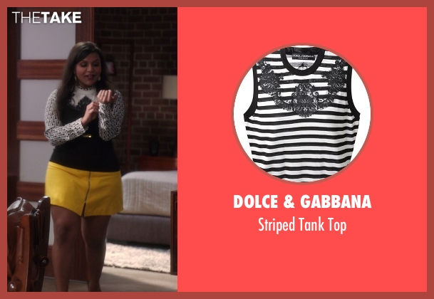 Dolce & Gabbana white top from The Mindy Project seen with Mindy Lahiri (Mindy Kaling)