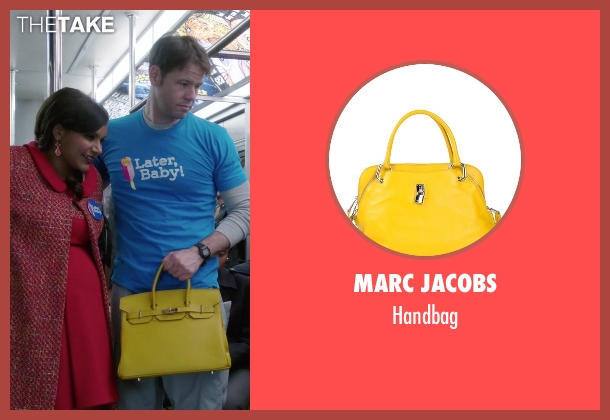 Marc Jacobs yellow handbag from The Mindy Project seen with Mindy Lahiri (Mindy Kaling)