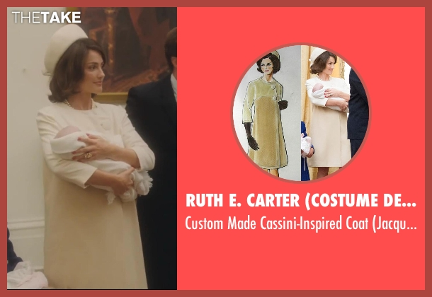 Ruth E. Carter (Costume Designer) white coat from Lee Daniels' The Butler seen with Minka Kelly (Jacqueline Kennedy)