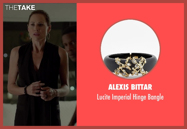 Alexis Bittar black bangle from Beyond the Lights seen with Minnie Driver (Macy Jean)