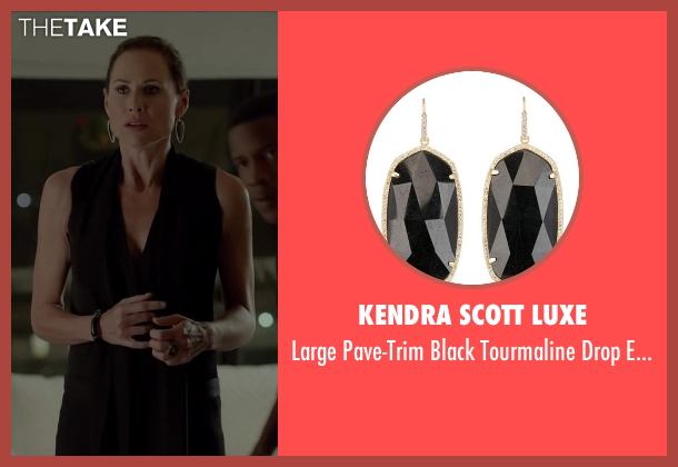 Kendra Scott Luxe black earrings from Beyond the Lights seen with Minnie Driver (Macy Jean)