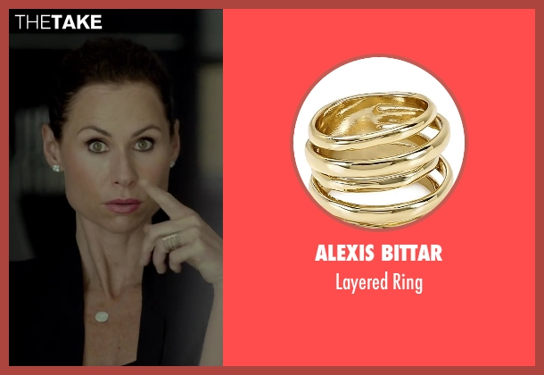 Alexis Bittar gold ring from Beyond the Lights seen with Minnie Driver (Macy Jean)