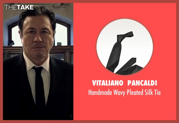 Vitaliano  Pancaldi black tie from Lucy seen with Min-Sik Choi (Kang)