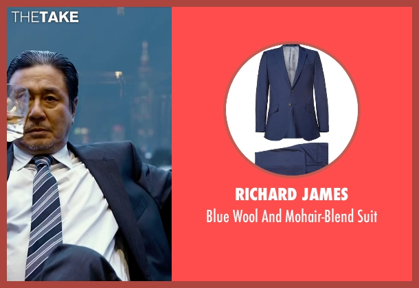 Richard James blue suit from Lucy seen with Min-Sik Choi (Kang)