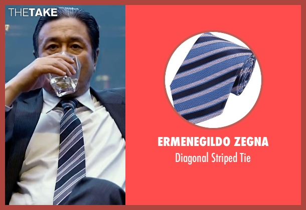 Ermenegildo Zegna blue tie from Lucy seen with Min-Sik Choi (Kang)
