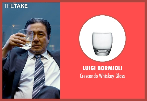 Luigi Bormioli glass from Lucy seen with Min-Sik Choi (Kang)