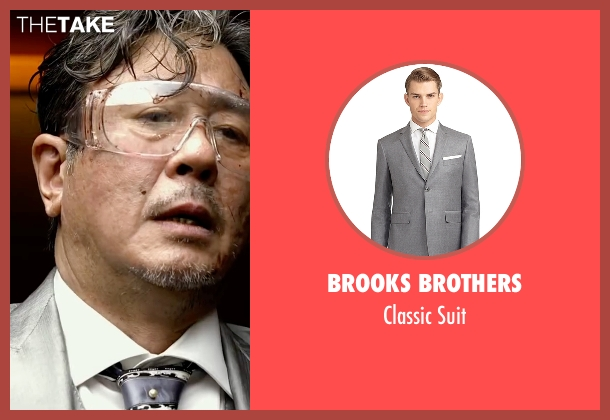 Brooks Brothers gray suit from Lucy seen with Min-Sik Choi (Kang)