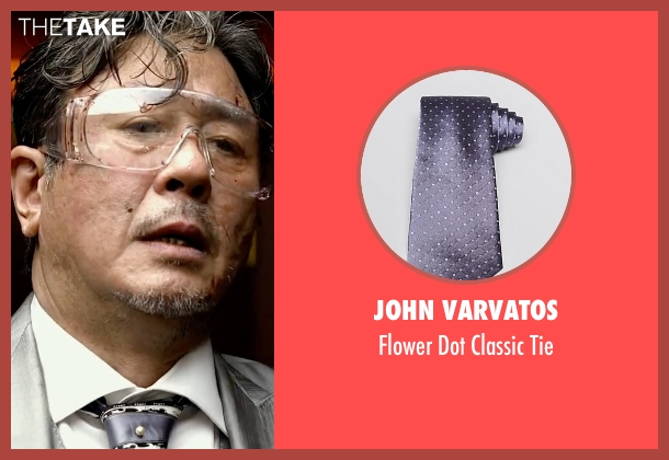 John Varvatos purple tie from Lucy seen with Min-Sik Choi (Kang)