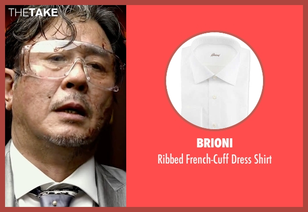 Brioni white shirt from Lucy seen with Min-Sik Choi (Kang)