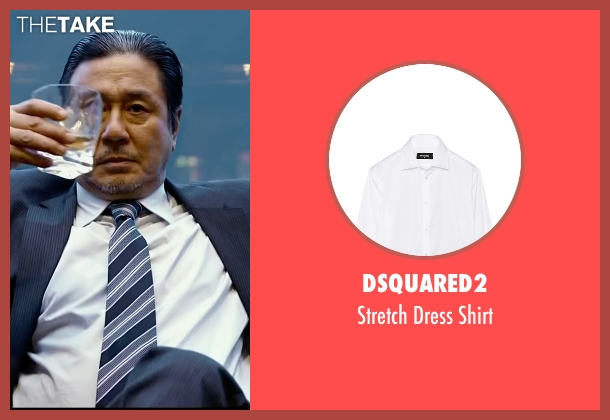 DSquared2 white shirt from Lucy seen with Min-Sik Choi (Kang)
