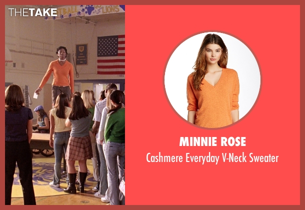 Minnie Rose orange sweater from Mean Girls seen with Miranda Edwards (Michigan Girl)