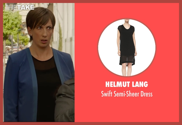Helmut Lang	 black dress from Spy seen with Miranda Hart (Nancy)