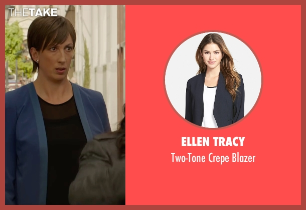 Ellen Tracy blue blazer from Spy seen with Miranda Hart (Nancy)