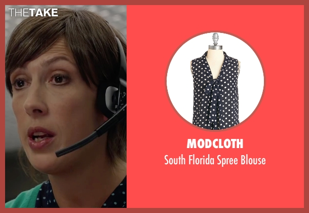 ModCloth blue blouse from Spy seen with Miranda Hart (Nancy)