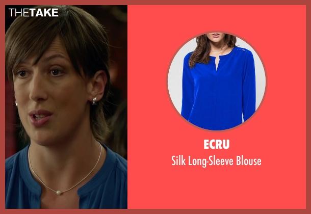 Ecru blue blouse from Spy seen with Miranda Hart (Nancy)