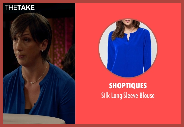 Shoptiques blue blouse from Spy seen with Miranda Hart (Nancy)