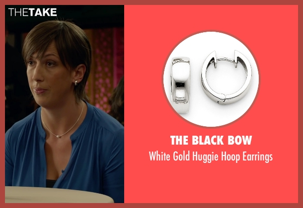 The Black Bow white earrings from Spy seen with Miranda Hart (Nancy)