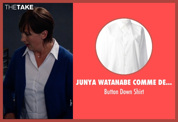 Junya Watanabe Comme Des Garcons white shirt from Spy seen with Miranda Hart (Nancy)