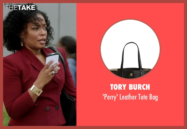 Tory Burch black bag from Quantico seen with Miranda Shaw (Aunjanue Ellis)