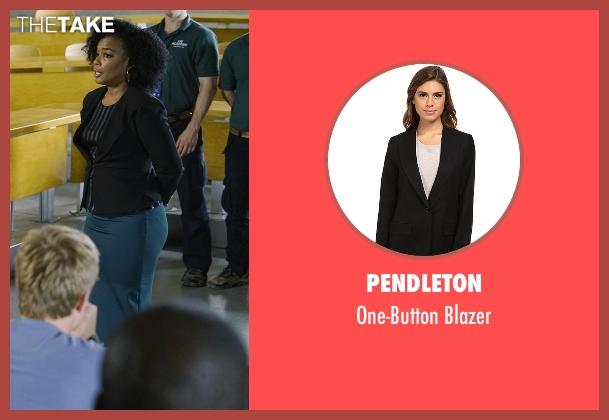 Pendleton black blazer from Quantico seen with Miranda Shaw (Aunjanue Ellis)