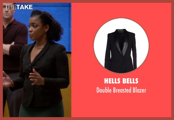 Hells Bells black blazer from Quantico seen with Miranda Shaw (Aunjanue Ellis)
