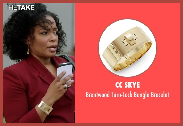 CC Skye gold bracelet from Quantico seen with Miranda Shaw (Aunjanue Ellis)