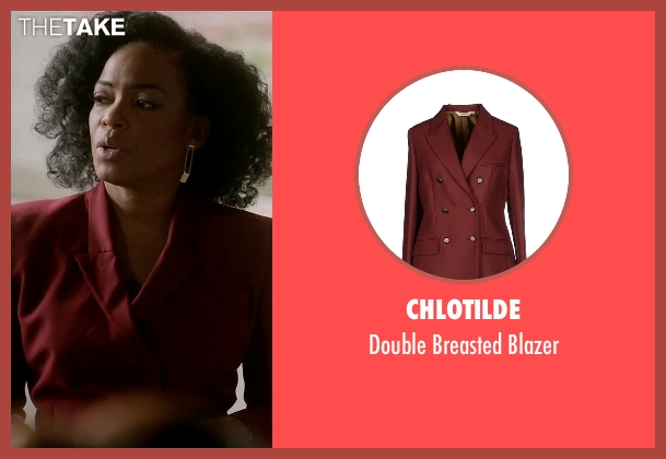Chlotilde red blazer from Quantico seen with Miranda Shaw (Aunjanue Ellis)