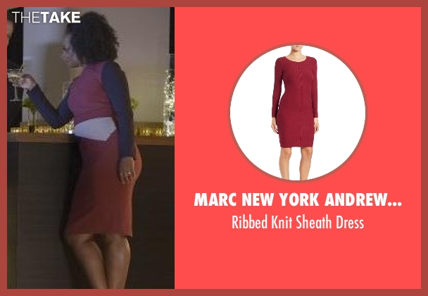 Marc New York Andrew Marc red dress from Quantico seen with Miranda Shaw (Aunjanue Ellis)