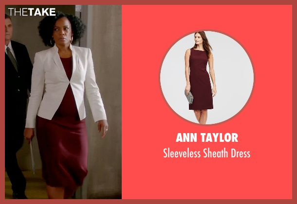 Ann Taylor red dress from Quantico seen with Miranda Shaw (Aunjanue Ellis)