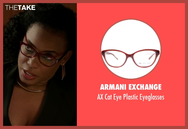 Armani Exchange red eyeglasses from Quantico seen with Miranda Shaw (Aunjanue Ellis)