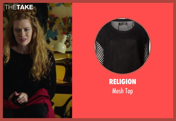 Religion black top from If I Stay seen with Mireille Enos (Kat Hall)