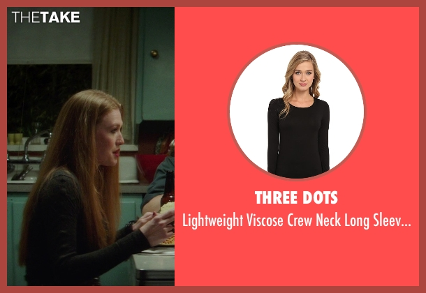 Three Dots black t-shirt from If I Stay seen with Mireille Enos (Kat Hall)