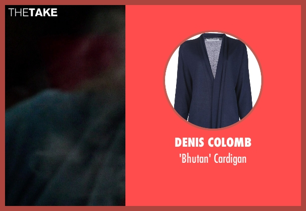 Denis Colomb blue cardigan from If I Stay seen with Mireille Enos (Kat Hall)