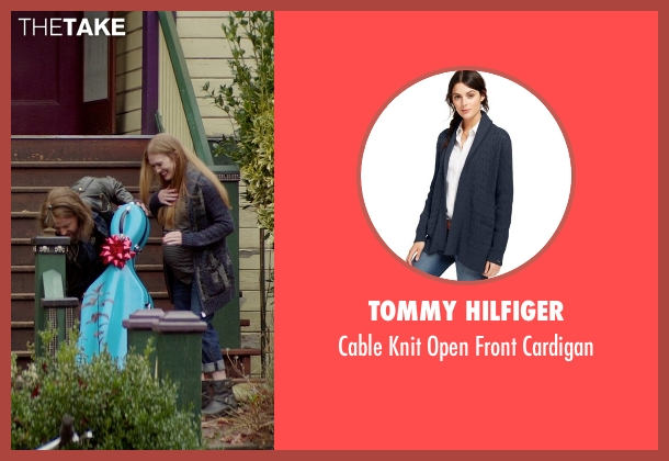 Tommy Hilfiger blue cardigan from If I Stay seen with Mireille Enos (Kat Hall)
