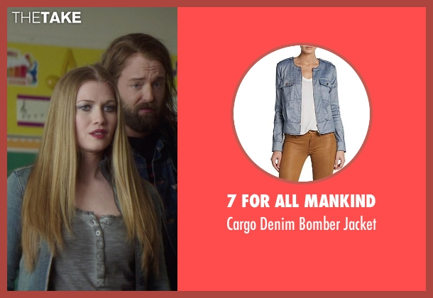 7 For All Mankind blue jacket from If I Stay seen with Mireille Enos (Kat Hall)