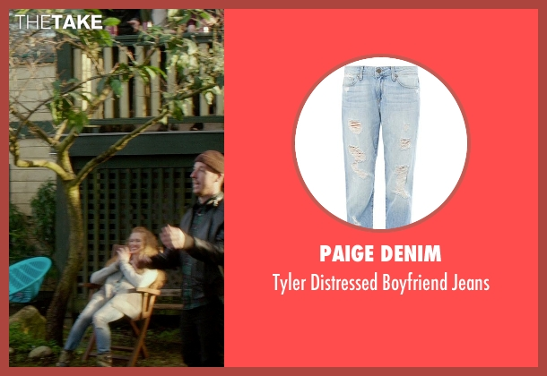 Paige Denim blue jeans from If I Stay seen with Mireille Enos (Kat Hall)