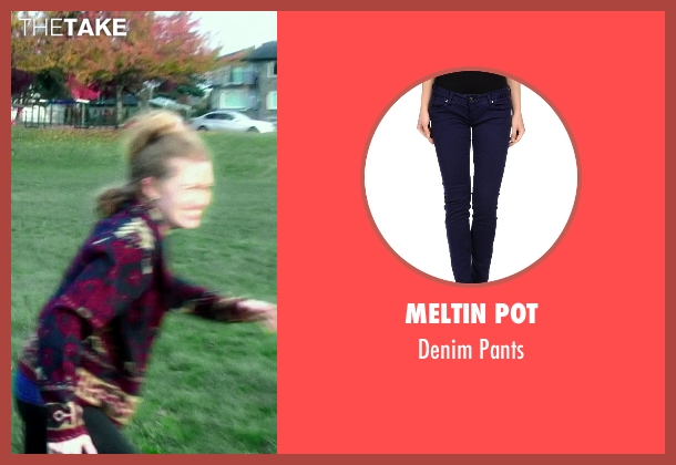 Meltin Pot blue pants from If I Stay seen with Mireille Enos (Kat Hall)