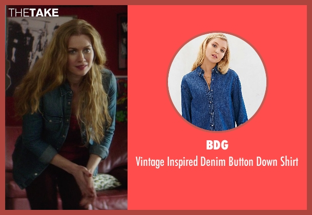 BDG blue shirt from If I Stay seen with Mireille Enos (Kat Hall)