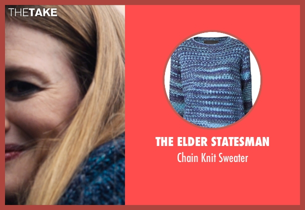 The Elder Statesman blue sweater from If I Stay seen with Mireille Enos (Kat Hall)