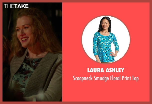 Laura Ashley blue top from If I Stay seen with Mireille Enos (Kat Hall)